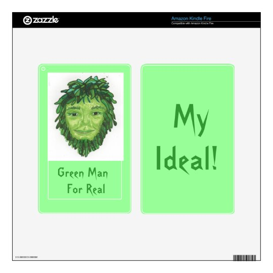 Green Man For Real Kindle Fire Skin