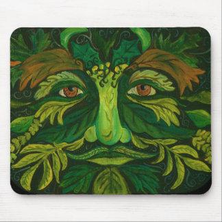 Green Man Garden Fairy Mouse Pad