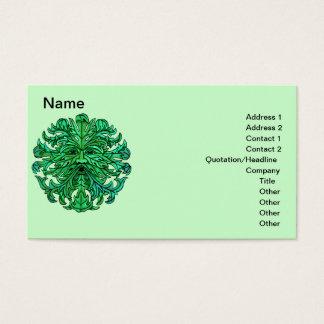 Green Man Gaze Business Cards