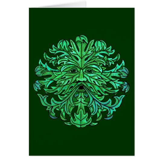 Green Man Gaze Card