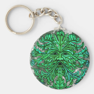 Green Man Gaze Keychain