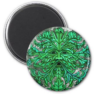 Green Man Gaze Magnet