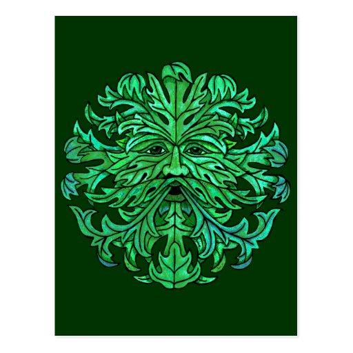 Green Man Gaze Postcard