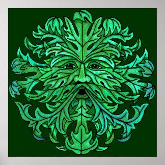 Green Man Gaze Poster