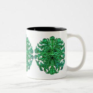 Green Man Gaze Two-Tone Coffee Mug