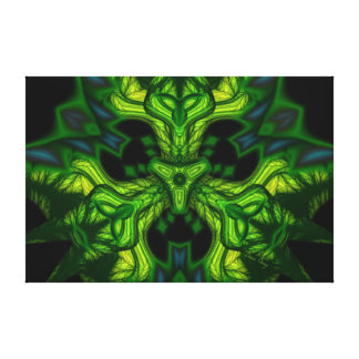 Green Man Goblin – Emerald and Gold Mask Canvas Print