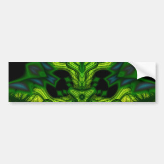 Green Man Goblin – Emerald and Gold Mask Car Bumper Sticker