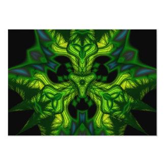Green Man Goblin – Emerald and Gold Mask Card
