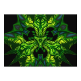 Green Man Goblin – Emerald and Gold Mask 5x7 Paper Invitation Card