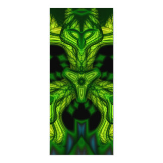 Green Man Goblin – Emerald and Gold Mask 4x9.25 Paper Invitation Card