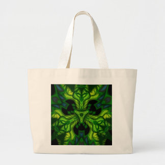 Green Man Goblin – Emerald and Gold Mask Large Tote Bag