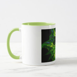 Green Man Goblin – Emerald and Gold Mask Mug