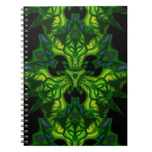Green Man Goblin – Emerald and Gold Mask Notebook