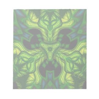 Green Man Goblin – Emerald and Gold Mask Memo Notepad