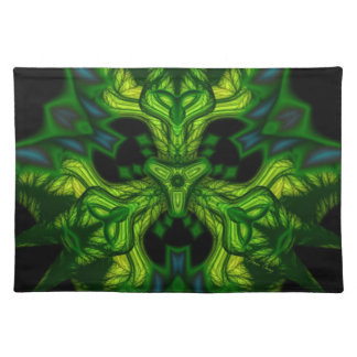 Green Man Goblin – Emerald and Gold Mask Cloth Place Mat