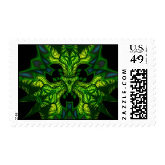 Green Man Goblin – Emerald and Gold Mask Postage