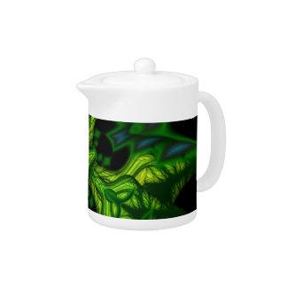 Green Man Goblin – Emerald and Gold Mask Teapot