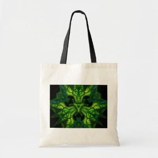 Green Man Goblin – Emerald and Gold Mask Tote Bag