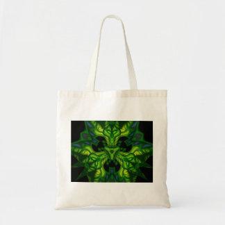 Green Man Goblin – Emerald and Gold Mask Tote Bag
