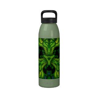 Green Man Goblin – Emerald and Gold Mask Drinking Bottles