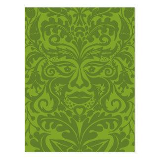 GREEN MAN Green Postcard