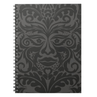 Green Man Grey & Charcoal Spiral Notebook