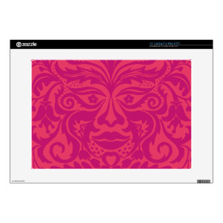 """Green Man in 2 tones of Pink Decals For 15"""" Laptops"""
