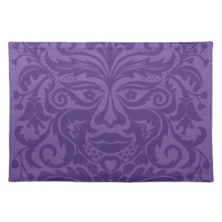 Green man in 2 tones of Purple Cloth Placemat