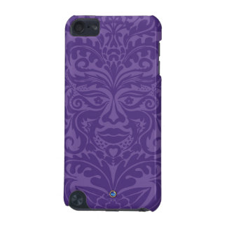 Green man in 2 tones of Purple iPod Touch 5G Cover