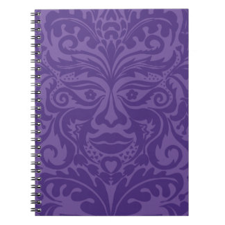 Green man in 2 tones of Purple Notebook