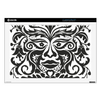 """Green Man in Black and White Decals For 17"""" Laptops"""