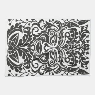 Green Man in Black and White Kitchen Towels