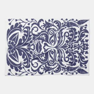 Green Man in Blues and white Kitchen Towels