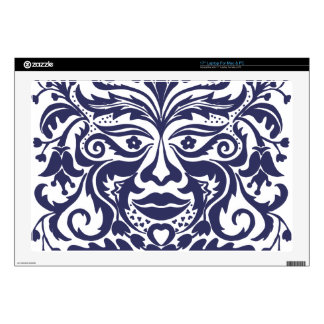 Green Man in Blues and white Skin For Laptop