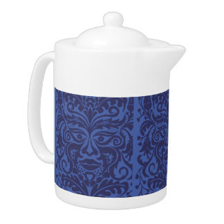Green Man in Blues and white Teapot