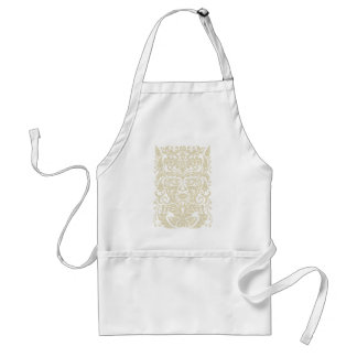 Green Man in natural white and stone Adult Apron
