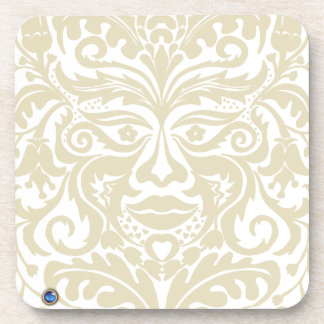 Green Man in natural white and stone Coaster