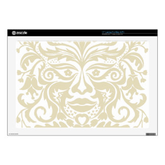 Green Man in natural white and stone Decals For Laptops