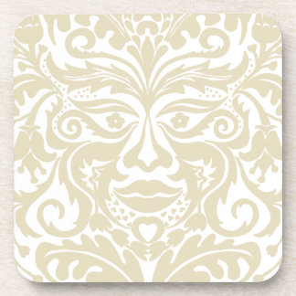Green Man in natural white and stone Drink Coaster