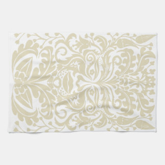 Green Man in natural white and stone Kitchen Towel
