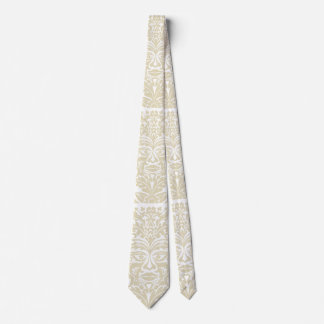 Green Man in natural white and stone Neck Tie