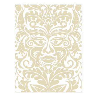 Green Man in natural white and stone Postcard