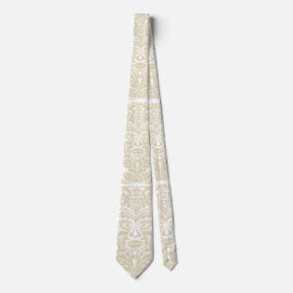 Green Man in natural white and stone Tie