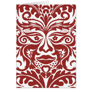Green man in Reds and white Card