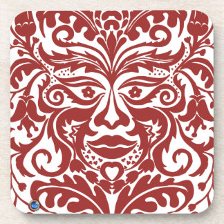 Green man in Reds and white Drink Coaster