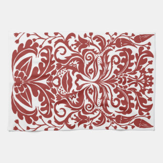 Green man in Reds and white Kitchen Towel
