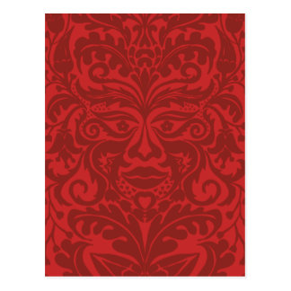 Green man in Reds and white Postcard