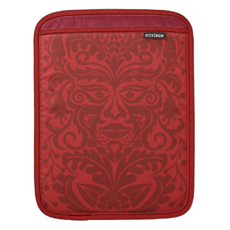 Green man in Reds and white Sleeve For iPads