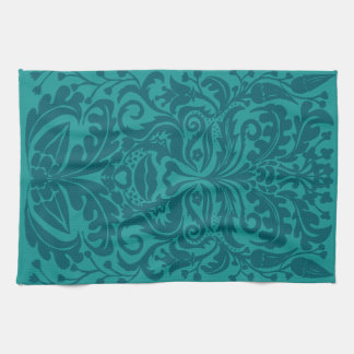 Green man in Turquoise & Teel Kitchen Towels