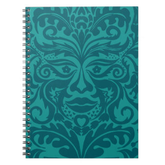 Green man in Turquoise & Teel Notebook